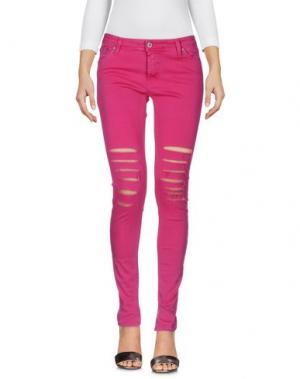 Джинсовые брюки PLEASE. Цвет: пурпурный