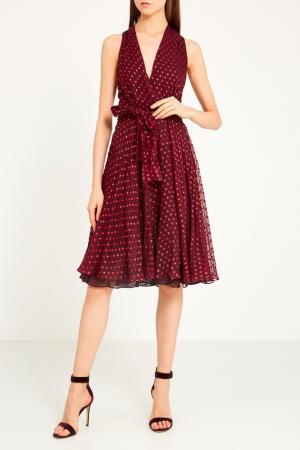 Бордовое платье с люрексом Gucci. Цвет: multicolor