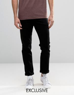 Noak Черные узкие джинсы стретч. Цвет: черный