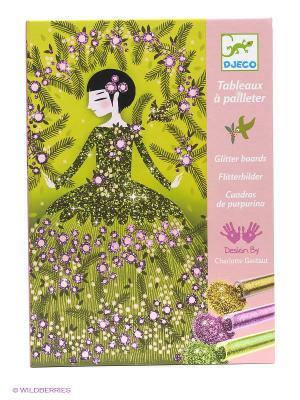 Набор для творчества Блестящие платья DJECO. Цвет: зеленый