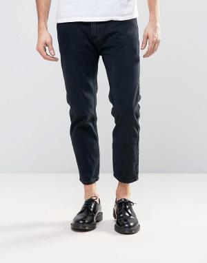 Rollas Черные выбеленные укороченные джинсы Stubs. Цвет: черный