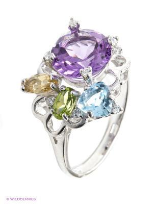 Кольцо SOKOLOV. Цвет: серебристый, фиолетовый