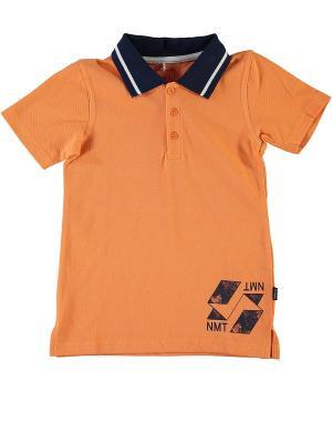 Футболка-поло NAME IT. Цвет: светло-оранжевый