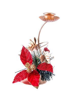 Подсвечник Рождественский Русские подарки. Цвет: красный, зеленый