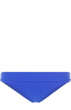 Плавки-бикини с баской Heidi Klein. Цвет: синий