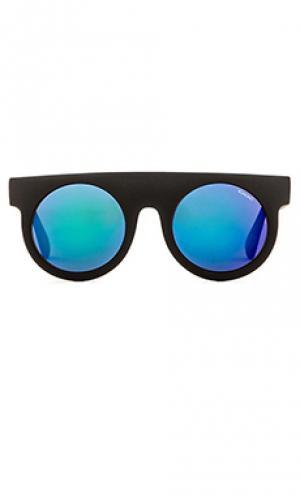 Солнцезащитные очки mirror series hippolyte Komono. Цвет: черный
