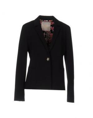 Пиджак VDP COLLECTION. Цвет: черный