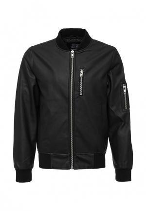 Куртка кожаная d-Struct. Цвет: черный