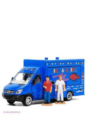 Мобильный магазин-фургон SIKU. Цвет: синий