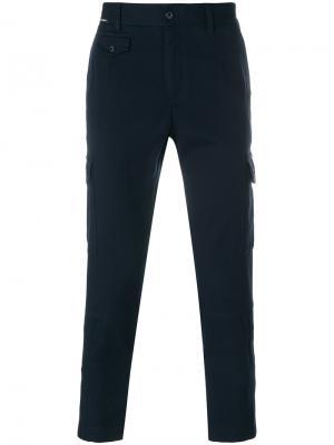 Укороченные брюки-карго Dolce & Gabbana. Цвет: синий