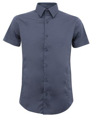 Рубашка Oodji. Цвет: серый, бронзовый