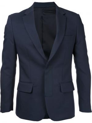 Приталенный пиджак Yoshio Kubo. Цвет: синий