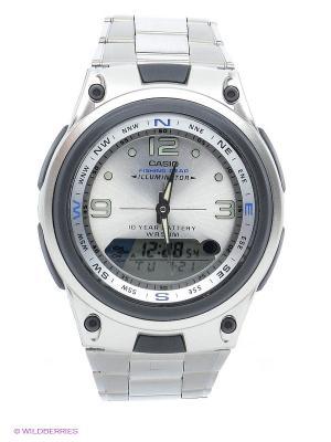 Часы AW-82D-7A CASIO. Цвет: серебристый