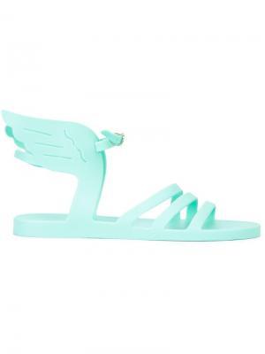 Сандалии с элементами крыльев Ancient Greek Sandals. Цвет: зелёный