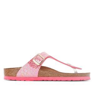 Туфли без задника синтетические BIRKENSTOCK. Цвет: наб. рисунок/ розовый
