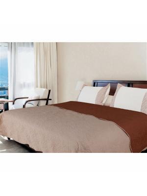 Покрывало Amore Mio Multi 1,5 сп. бежевый/коричневый. Цвет: бежевый, коричневый