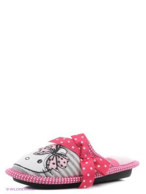 Тапочки Hello Kitty. Цвет: розовый
