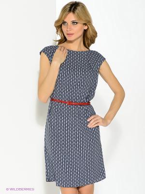 Платье Pompa. Цвет: темно-синий