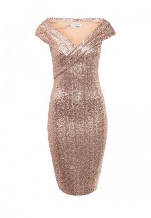 Платье Goddiva. Цвет: бежевый