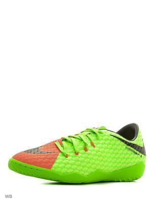 Бутсы Nike Hypervenom Phelon III (IC). Цвет: зеленый