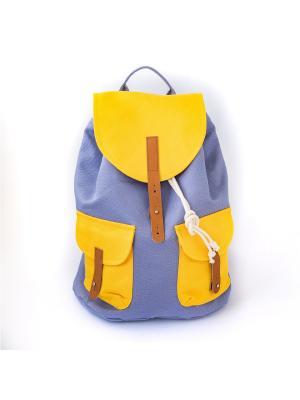 Городской рюкзак TIMBAG. Цвет: сиреневый, желтый, прозрачный