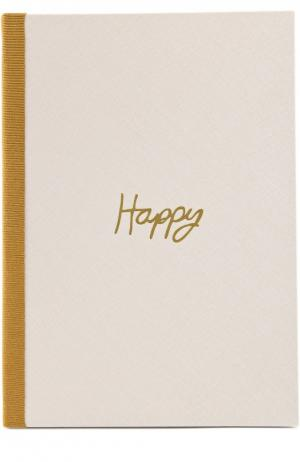 Записная книжка Seasonal And Gifts Lanvin. Цвет: бежевый
