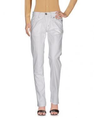 Повседневные брюки 9.2 BY CARLO CHIONNA. Цвет: белый