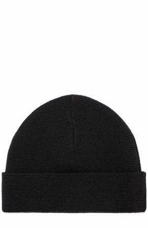Шерстяная шапка бини Ami. Цвет: черный