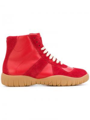Хайтопы на шнуровке Maison Margiela. Цвет: красный