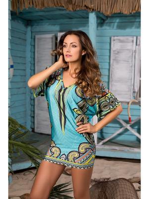 Пляжная одежда Mia-Mia. Цвет: голубой