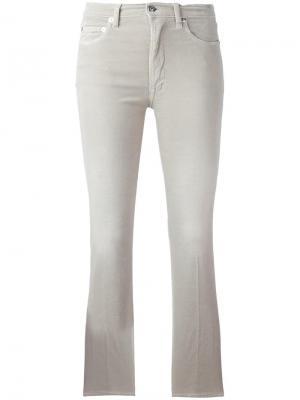 Укороченные расклешенные брюки +People. Цвет: телесный