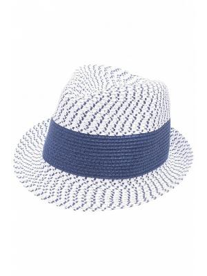Шляпа Baon. Цвет: синий,белый