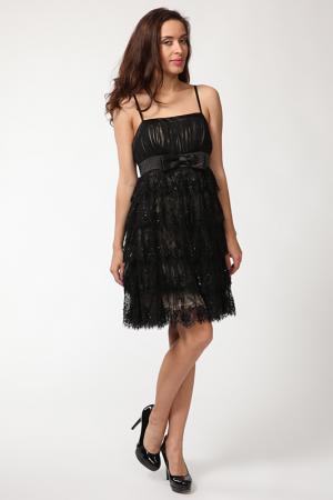 Платье Olinvnas. Цвет: бежевый