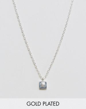 Pilgrim Позолоченное ожерелье. Цвет: серебряный