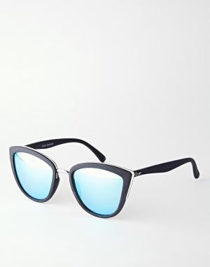 Quay Australia Зеркальные солнцезащитные очки кошачий глаз My Girl. Цвет: черный