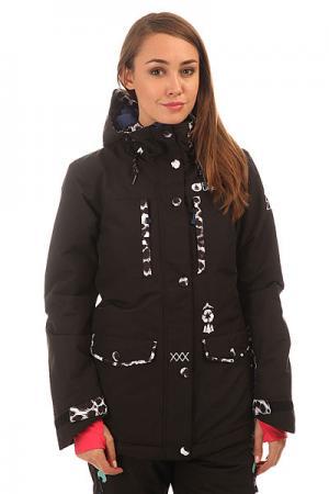 Куртка утепленная женская  May Black Picture Organic. Цвет: черный