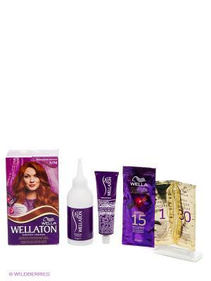Крем-краска для волос 7/74 Ирландский красный WELLATON. Цвет: фиолетовый