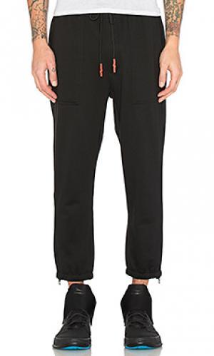 Рабочие брюки из флиса nelson Brandblack. Цвет: черный