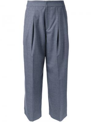 Укороченные брюки Cityshop. Цвет: серый