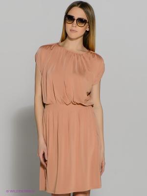 Платье SELECTED. Цвет: персиковый