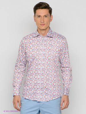 Рубашка MONDO BAZAAR. Цвет: белый, терракотовый
