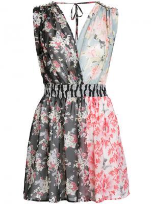 Платье без рукавов с цветочным узором Amen. Цвет: многоцветный