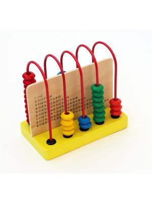 Лабиринт Счёты малые Винтик и Шпунтик. Цвет: красный,желтый,зеленый,голубой