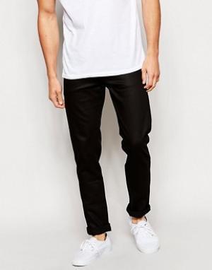 Weekday Черные джинсы скинни Friday. Цвет: черный