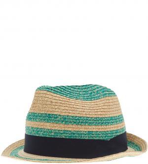 Шляпа ScotchSoda. Цвет: бежевый, бирюзовый, полоска