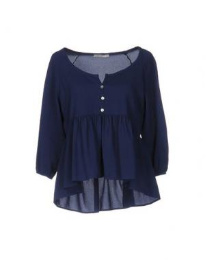 Блузка RISSKIO. Цвет: темно-синий