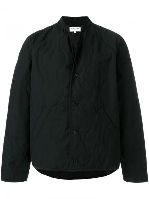 Стеганая куртка YMC. Цвет: чёрный