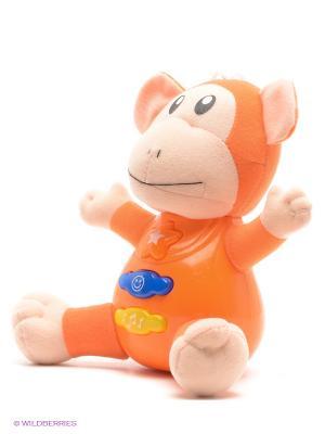 Развивающая игрушка Веселая зверюшка VELD-CO. Цвет: оранжевый
