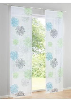 Гардина Heine Home. Цвет: серо-коричневый/серый, синий/зеленый