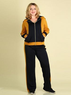 Спортивный костюм 01 SPARADA. Цвет: горчичный, темно-синий